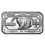 1 gram Black Bear Silver Bar .999 Fine