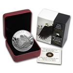 2013 1 oz Silver Can.- Bald Eagle - Mother Protecting Her Eaglets