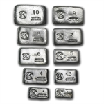 Prospector's Gold & Gems 10 - Piece Set (55 oz, 1 oz - 10 oz)
