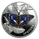 2013 Belarus Proof Silver 20 Roubles Butterflies - Purple Emperor