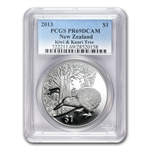 2013 1 oz Silver Proof New Zealand Treasures $1 Kiwi Coin PR69