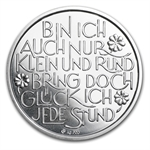 Glücksjeton 2014 Happy New Year Silver Round ASW .1302 oz
