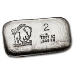 2 oz Bison Bullion Silver Bar .999 Fine
