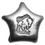1 oz Bison Bullion Silver Star .999 Fine