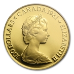 1981 1/2oz Gold Canadian $100 Proof - National Anthem PR-67 PCGS