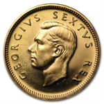 South Africa 1952 Gold 1/2 Pound George VI (BU/Proof)