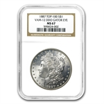 1887 Morgan Dollar MS-67 NGC VAM-12 Alligator Eye Top-100