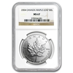 2004 1 oz Silver Canadian Maple Leaf MS-67 NGC