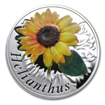 Belarus 2013 Silver Proof Under the Charm of Flowers - Sunflower