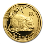 2008 1/4 oz Proof Gold Coin Year of the Mouse (Series II)