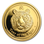 2010 1/4 oz Proof Gold Lunar Year of the Tiger (Series II)