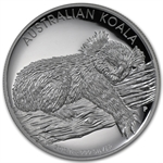 2012 1 oz Proof Silver High Relief Koala (W/Box & Coa)