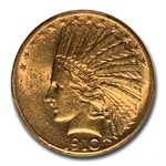 1910-S $10 Indian Gold Eagle - AU-55 PCGS