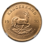 1970 1 oz Gold South African Krugerrand NGC MS-66