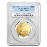 2011-W 1/2 oz Uncirculated Gold Julia Grant PCGS MS-69
