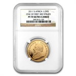2011 1/2 oz Gold South African Krugerrand NGC PF-70 UCAM