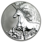 Tokelau 2014 1 oz Reverse Proof Silver $5 Unicorn