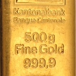 500 gram Gold Bar (Secondary Market) .9999 Fine