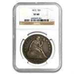 1872 Liberty Seated Dollar Extra Fine-40 NGC