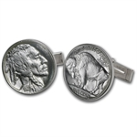 U.S. Buffalo Nickel Sterling Silver Cuff Links
