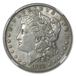 1883 Morgan Dollar AU-53 NGC Curved Clip Mint Error