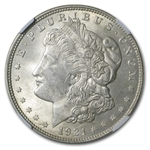 1921 Morgan Dollar MS-62 NGC Reverse Struck Thru Mint Error