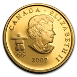 .225 oz Gold Colored Canadian Olympic $75 Proof - (Our Choice)