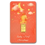 2013 1/2 gram Baby Girl's First Christmas Gold Bar (In Assay)