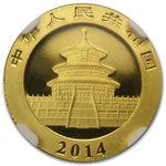 2014 1/10 oz Gold Chinese Panda MS-70 NGC (Early Releases)