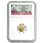 2014 1/20 oz Gold Chinese Panda MS-70 NGC (Early Releases)