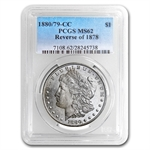 1880/79-CC Morgan Dollar - Reverse of 1878 - MS-62 PCGS