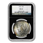1923 Peace Dollar MS-65 NGC Beautiful Obverse Toning