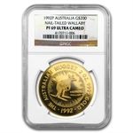 1992 2 oz Australian Proof Gold Nugget PF-69 NGC