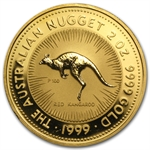 2 oz Australian Gold Kangaroo/ Nugget (Light Abrasions)