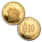 1/10 oz Gold Standard Corporation Pure Gold Rounds .900 Fine