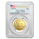 2008-W 1/2 oz Gold Louisa Adams MS-69 First Strike PCGS