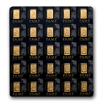 25x 1 gram Pamp Gold Bar .9999 Fine (In Individual Assay)