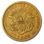 1853/2 $20 Gold Liberty Double Eagle - VF-30 PCGS