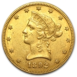 1892-O $10 Liberty Gold Eagle - Extra Fine