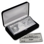 2014 4 oz $100 Bill Silver Bar (W/Box & Coa)