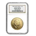 U.S. Mint Gold 1 oz Helen Hayes MS-69 NGC