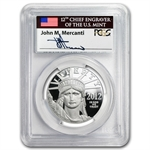 2012 W 1 oz Platinum American Eagle PR69 PCGS (FS) Mercanti Label