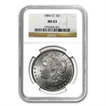 1882-1884-CC Morgan Dollars - MS-63 NGC - Carson City