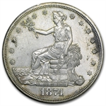 1874-S Trade Dollar - Brilliant Uncirculated - Details - Cleaned