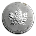1998 10 oz Silver Canadian Maple Leaf (10th Anniversary-no box)