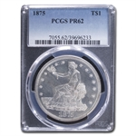 1875 Trade Dollar PR-62 PCGS - Proof