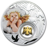 Niue 2014 Proof Silver $1 Good Luck Series - Angel