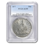 1877 Trade Dollar - Almost Uncirculated-55 PCGS