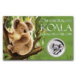 2014 1 oz Silver Colorized Koala Coin (In display card)
