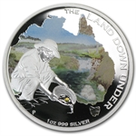 2014 The Land Down Under - Gold Rush 1 oz Silver Proof
